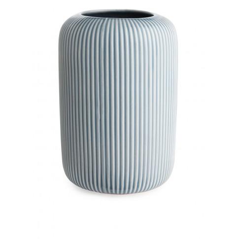 Ridge Terracotta Vase 22 Cm - Blue