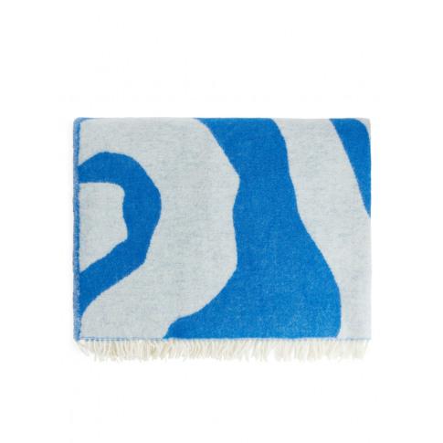 Klippan Zebra Wool Blanket - Blue