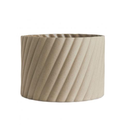 Stoneware Flower Pot 13 Cm - Beige