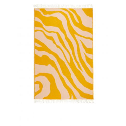 Klippan Zebra Wool Blanket - Pink