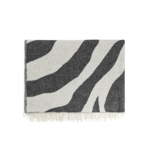 Klippan Zebra Wool Blanket - Black