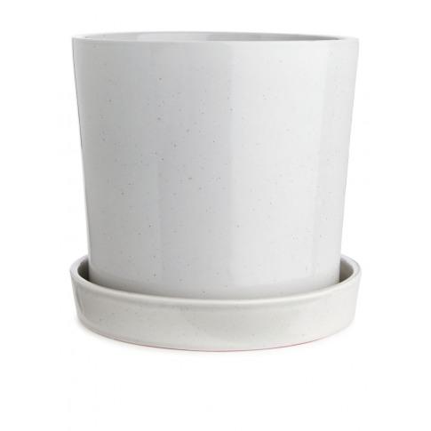Terracotta Flower Pot 22 Cm - Grey