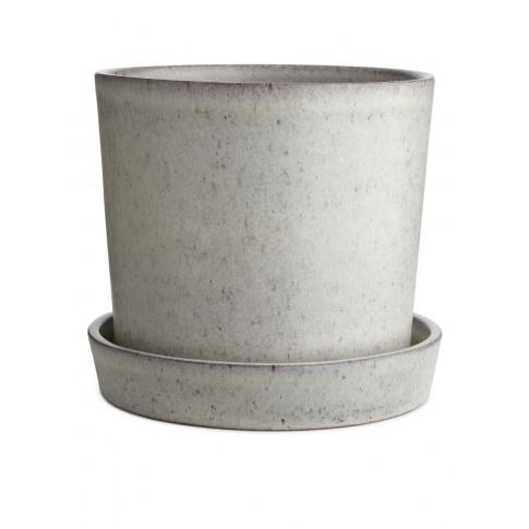 Terracotta Flower Pot 18 Cm - White