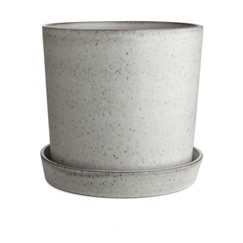 Terracotta Flower Pot 22 Cm - White