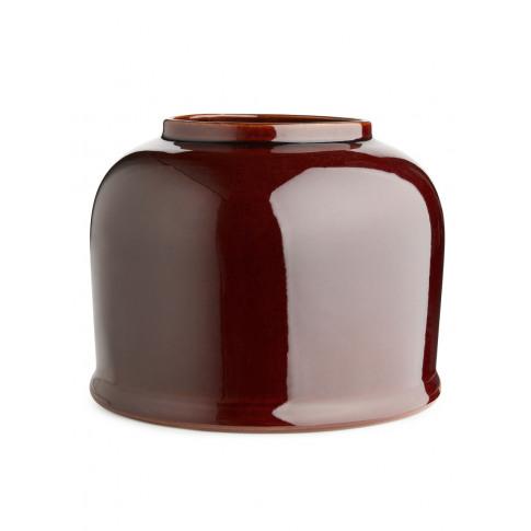 Terracotta Vase 19 Cm - Red