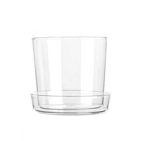 Glass Flower Pot 11 Cm - White