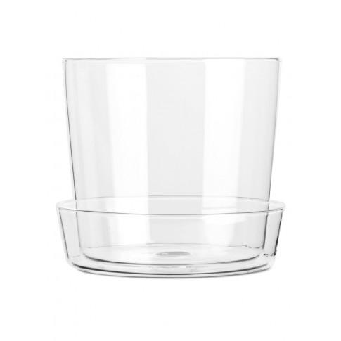 Glass Flower Pot 13 Cm - White