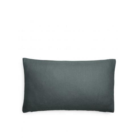 Linen Lumbar Cushion Cover - Grey