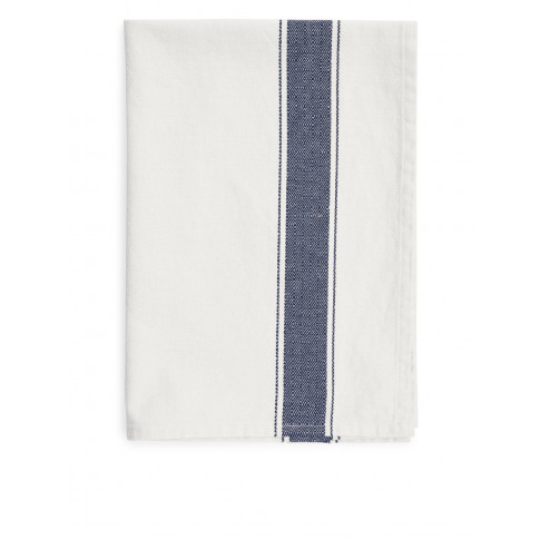 Goose-Eye Stripe Tea Towel - Blue
