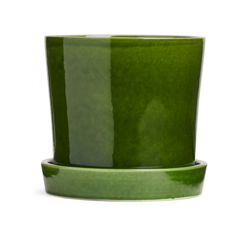Terracotta Flower Pot 18 Cm - Green