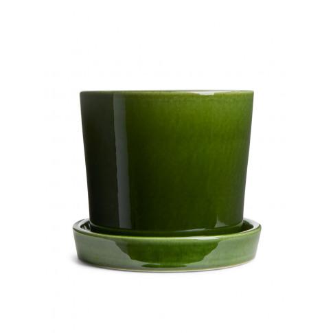 Terracotta Flower Pot 12 Cm - Green