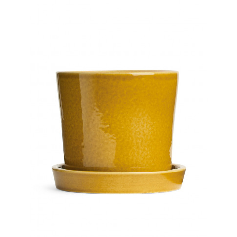 Terracotta Flower Pot 12 Cm - Yellow