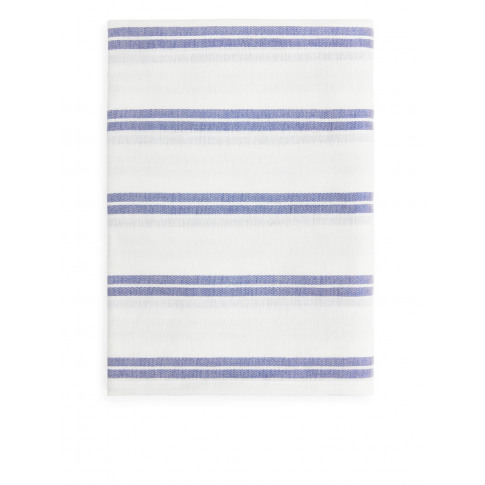 Cotton Linen Beach Blanket - Blue