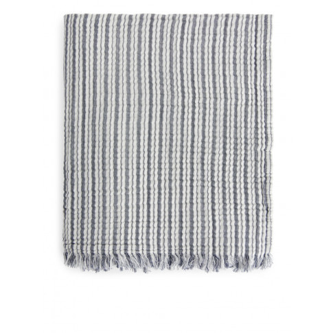 Woven Cotton Blanket - Blue