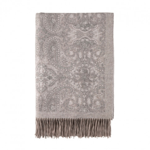 Johnstons Of Elgin Delicate Paisley Cashmere Throw Q...