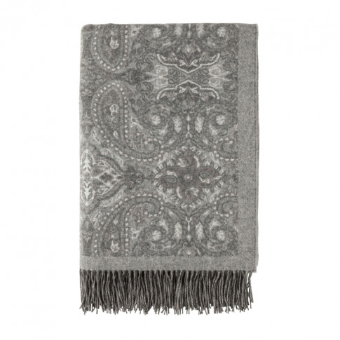 Johnstons Of Elgin Delicate Paisley Cashmere Throw Ash