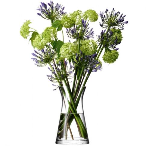LSA International Flower Mixed Bouquet Vase H29cm Clear