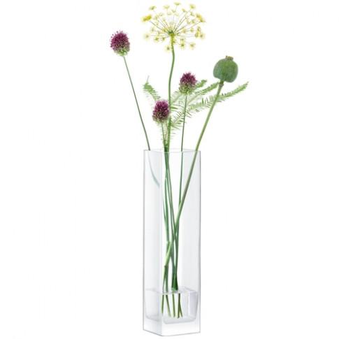 Lsa International Modular Vase 40 X 10 X 10cm Clear