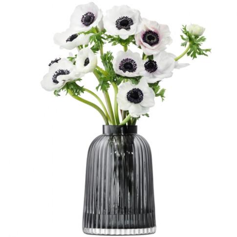 Lsa International Pleat Vase H20cm Grey