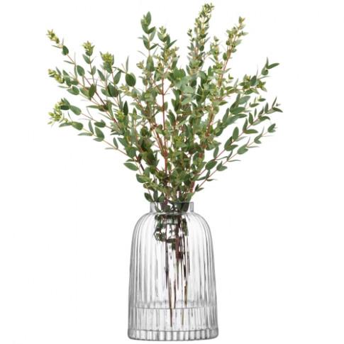 LSA International Pleat Vase H20cm Clear