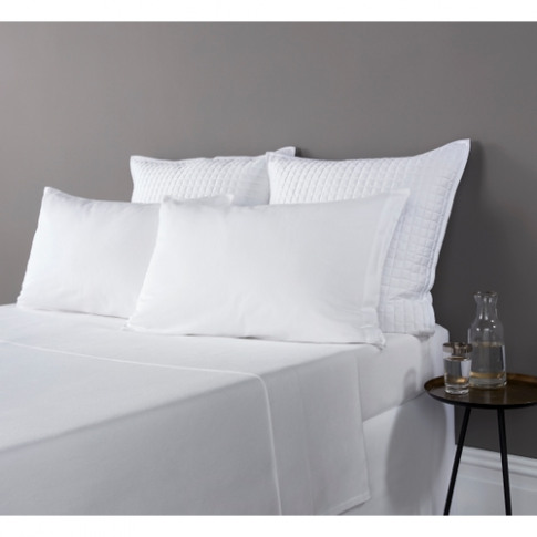 Christy Highgate Flannel Single Fitted Sheet White