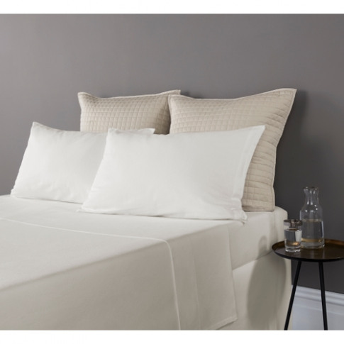 Christy Highgate Flannel Double Fitted Sheet Cream