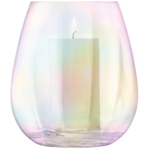 LSA International Pearl Lantern-vase H22cm Mother Of...