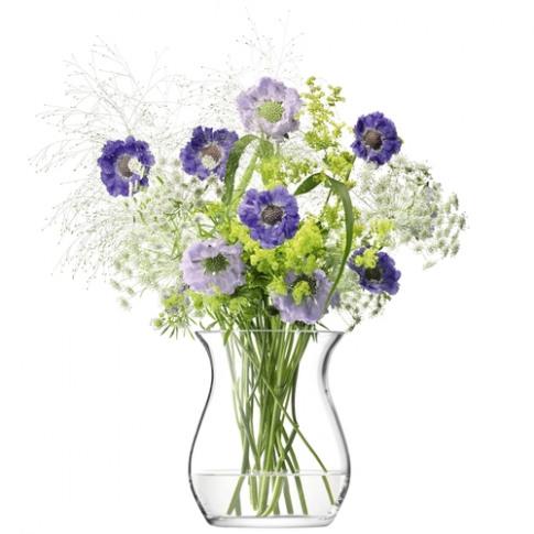 Lsa International Flower Open Posy Vase H23cm Clear