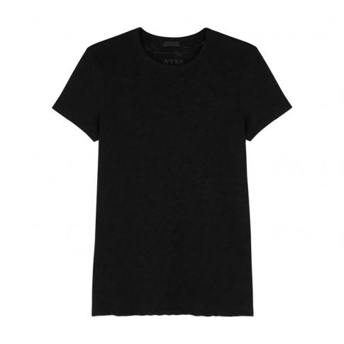 Atm Anthony Thomas Melillo Black Slubbed Cotton T-Shirt