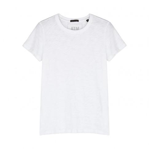 Atm Anthony Thomas Melillo White Slubbed Cotton T-Shirt