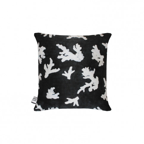 Florence Bridge Black Coral Silk Cushion