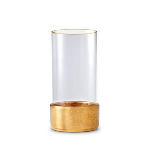 L'Objet Alchimie Gold Hurricane Candle Holder Small