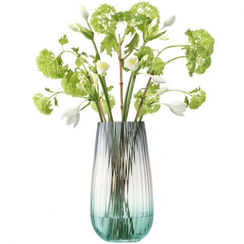 Lsa International Dusk Vase H28cm Green-Grey