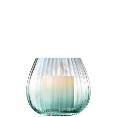Lsa International Dusk Lantern-Vase H13cm Green-Grey