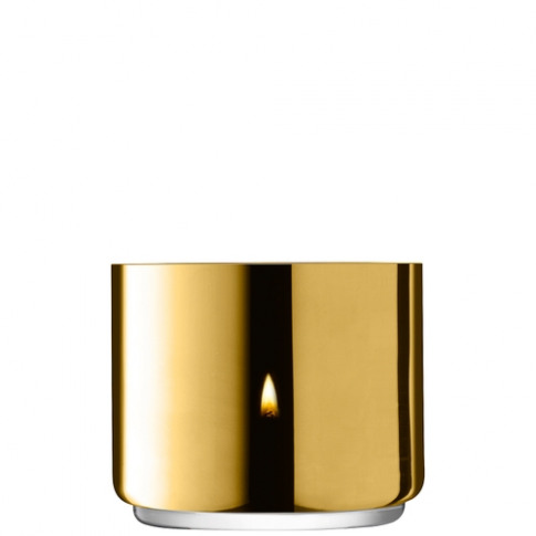 Lsa International Karat Tealight Holder H7cm Gold