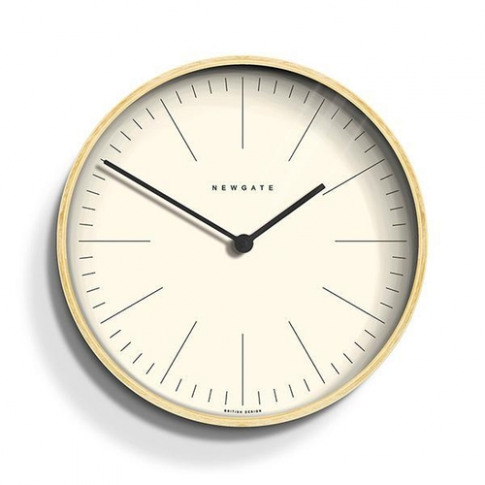 Newgate Minimalist Scandi Light Plywood Wall Clock