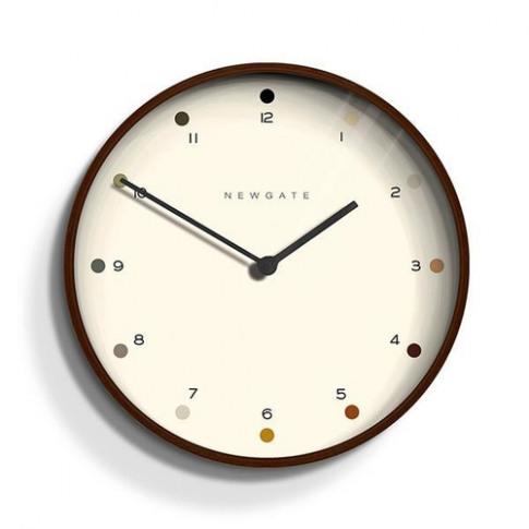 Newgate Contemporary Dark Wood Wall Clock - Shaded D...