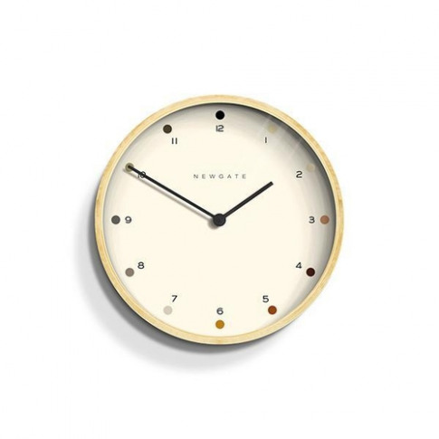 Newgate Contemporary Plywood Wall Clock - Shaded Dot Dial