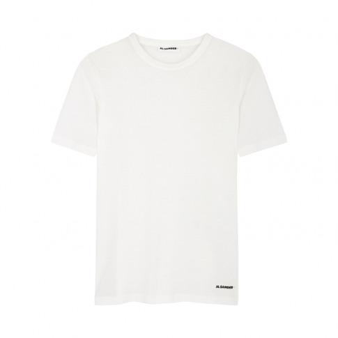 Jil Sander White Slubbed Cotton T-Shirt