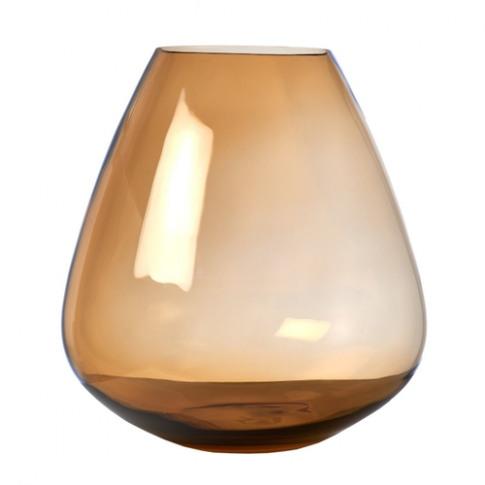 Pols Potten Whiskey Glass Vase Amber