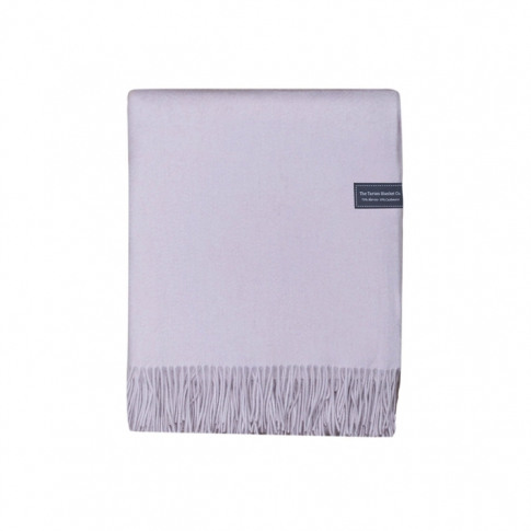 The Tartan Blanket Co. Merino & Cashmere Silver Grey...