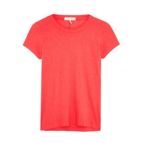 Rag & Bone Coral Slubbed Pima Cotton T-Shirt