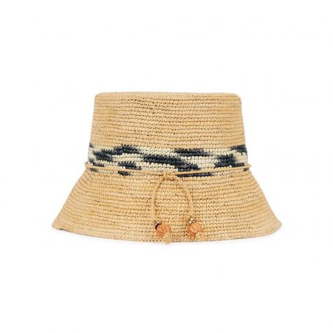 Sensi Studio Lampshade Toquilla Straw Bucket Hat