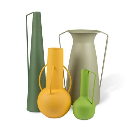 Pols Potten Set Of 4 Roman Vases Green