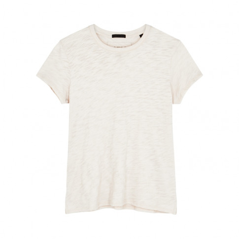 Atm Anthony Thomas Melillo Cream Slubbed Cotton T-Shirt