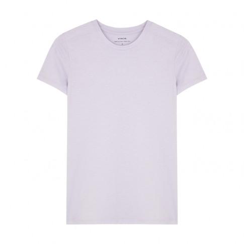 Vince Lilac Slubbed Cotton T-Shirt