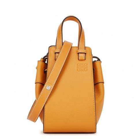 Loewe Hammock Mini Mustard Leather Cross-Body Bag