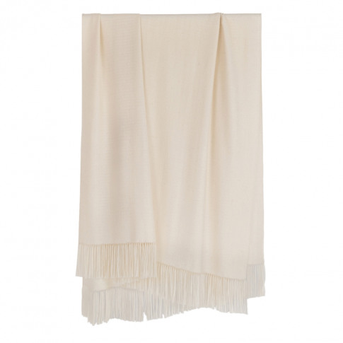 Araminta Campbell Large Willow Throw-Natural White A...