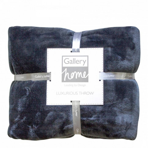 Charcoal Flannel Fleece Throw 140x180cm