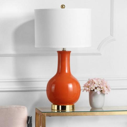 Orange Charlie Ceramic Table Lamp